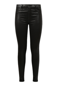 JEANS SKINNY COATED LEOPARD