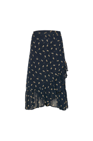 ZIRI FLOWER SKIRT, MARINE BLUE