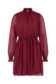KATIE MINI jurk LONG SLEEVE DOT  PES