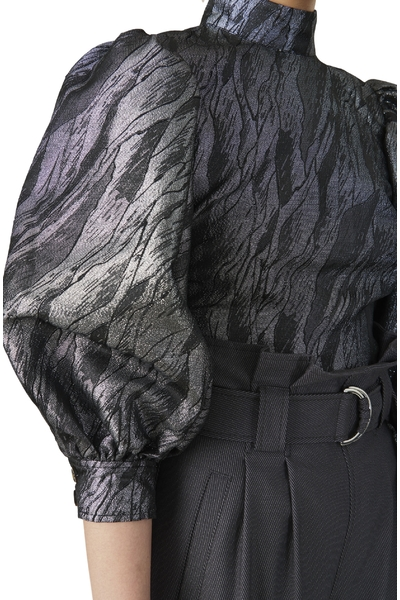 Ganni Black Skjorte Lange Mouwen Blouses - Zwart