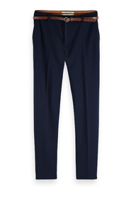 Tailored sweat pants sold with belt