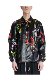 Graphic Logo Button Up Jacket