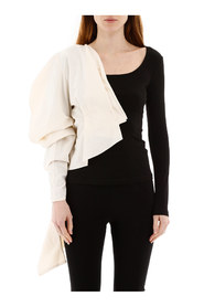 two-tone asymmetrical top