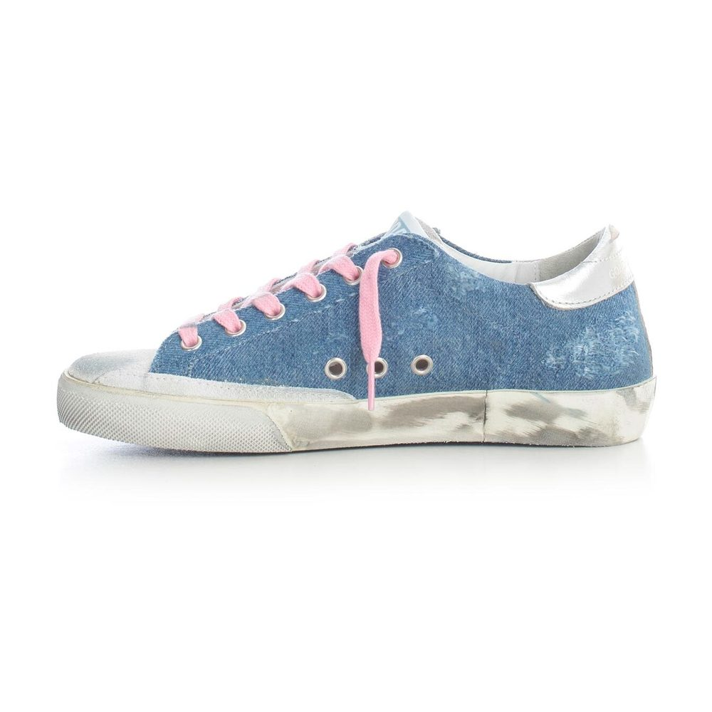 Golden Goose LIGHT BLUE DENIM COW STAR SNEAKERS Golden Goose