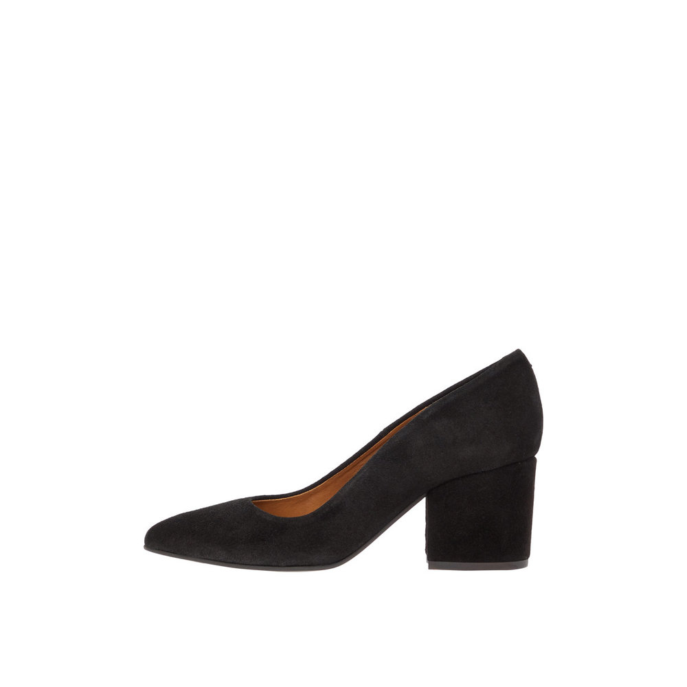 Pumps Suede Block Heel