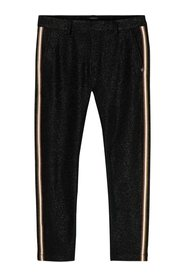 Lurex tailored pants with tape