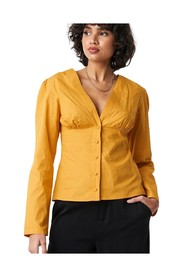 V-Neck Buttoned Front Top