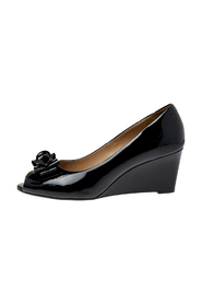 Patent Leather Wedge Pumps