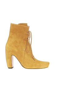 Heeled suede ankle boots