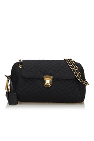 Quilted Nylon Chain Shoulder Bag