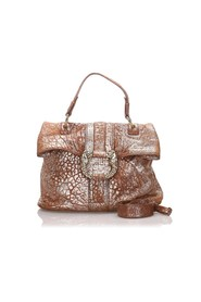 Metallic Leather Leoni Satchel