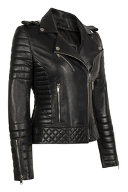 ALEX LIGHT-SILVER PERFECTO LEATHER JACKET