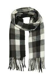 Textured check scarf