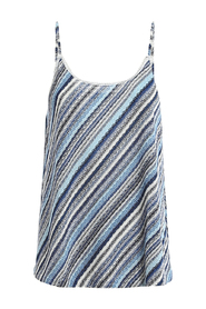 BLUE STRIPED KNITTED TOP