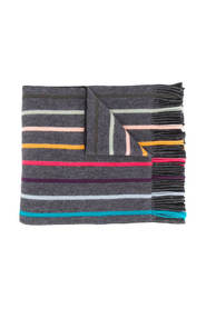 Charcoal Twisted Artist Stripe Scarf