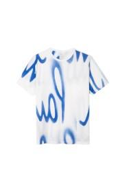 T-shirt met spray-print