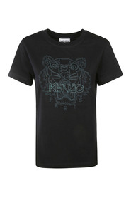 Embroidered-logo T-shirt