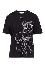 T-shirt with Stylised Print