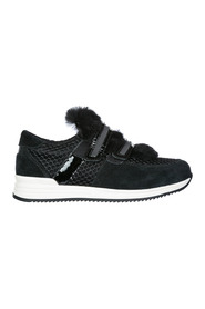 girls shoes child suede leather sneakers
