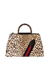 Nymphaea Leopard Print Large Bag