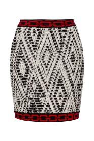 Minifalda wzorzyste łańcuch