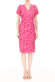 Heart-printed vera dress