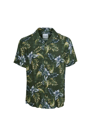 Only&Sons Thomas Reg Viscose Shirt Deep Forest - M