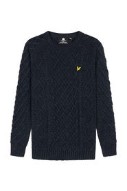 Heavy Cable Knit Crew Neck
