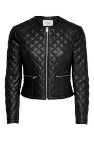 Faux Leather Jacket Quilted