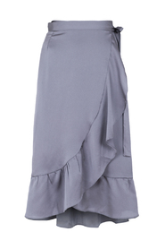 Mika solid wrap skirt grey - Neo Noir