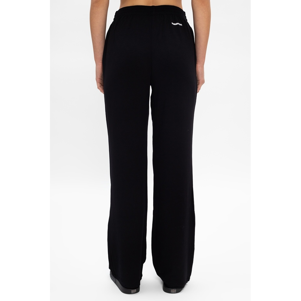 Dsquared2 Black Sweatpants with logo Dsquared2