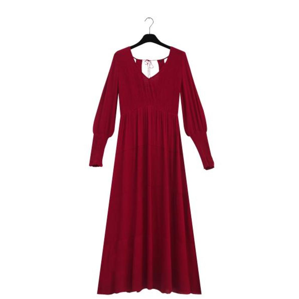 GALA Long Bordeaux Dress