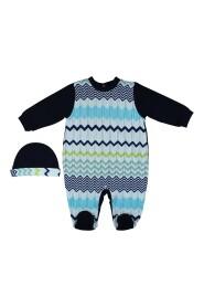 Set baby boy in jersey di cotone multicolor