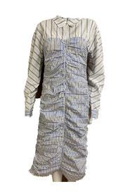 Fitted Stripes Cotton Dress