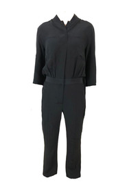Silk Jumpsuit With Pleated Back