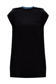 Logo-patched dress