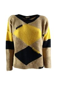 More women's sweater with rhombuses