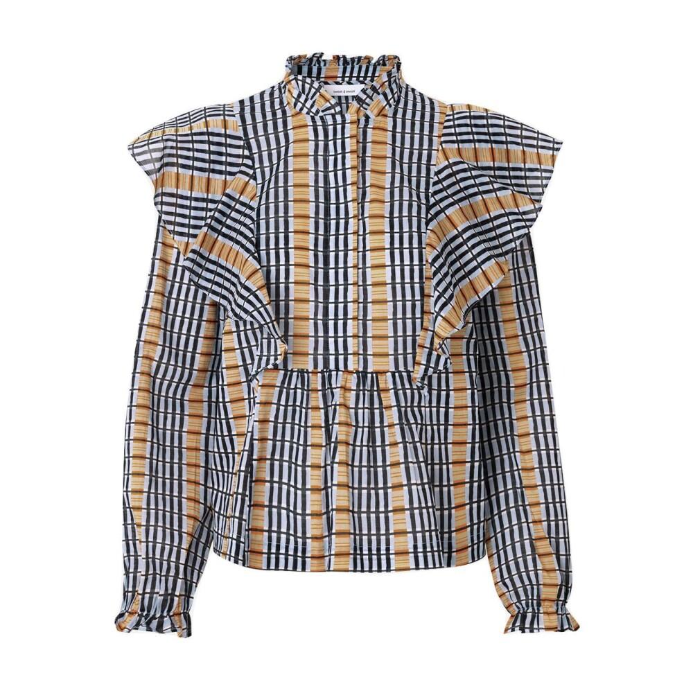 blue Ruter Martha Shirt Aop 11159 Skjorte | Samsøe Samsøe