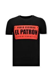 Coole T-shirt Mannen Pablo Escobar El Patron