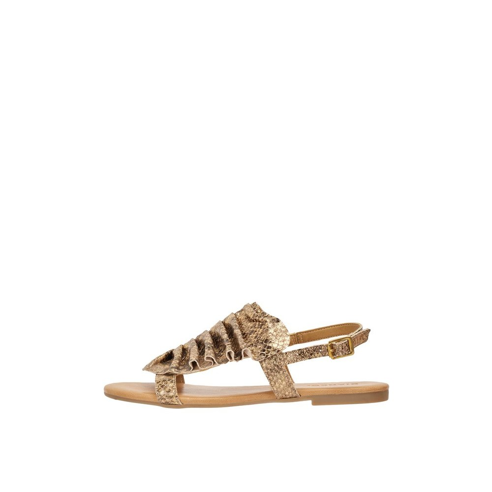LEATHER FRILL Sandals