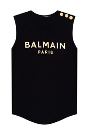 Logo-printed tank top
