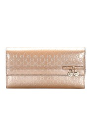 Microguccissima Patent Leather Long Wallet