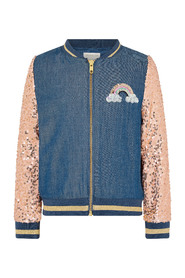 Sequin Unicorn Denim Daywear Cardigan