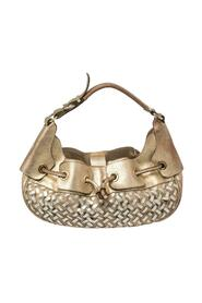 Pre-owned Woven Nova Check PVC and Leather Warrior Hobo