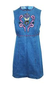 Denim Dress With Embroidery -Pre Owned Condition Very Good