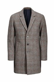 Coat Checked wool
