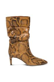 Python Leather Boots