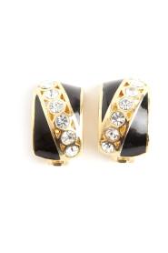 Brukte Authentic Art Deco krystallklips på øreringer