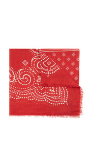 Patterned scarf with logo