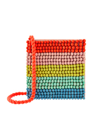 Rainbow Beaded Bag